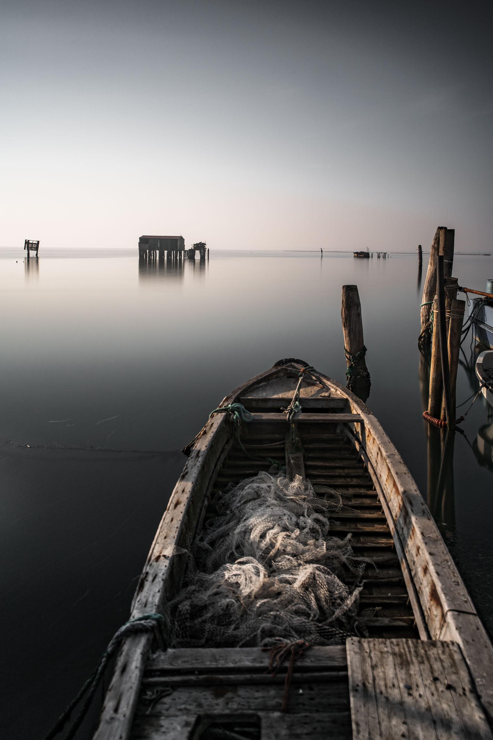 Fischerhütte in der Lagune von Venedig
