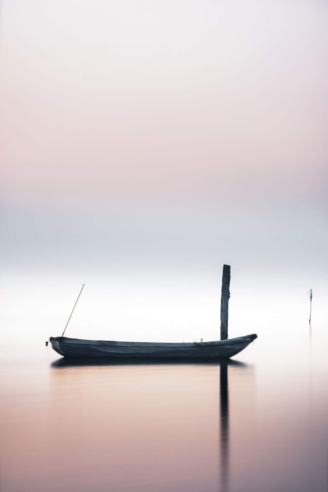 Fischerboot in der Lagune von Venedig