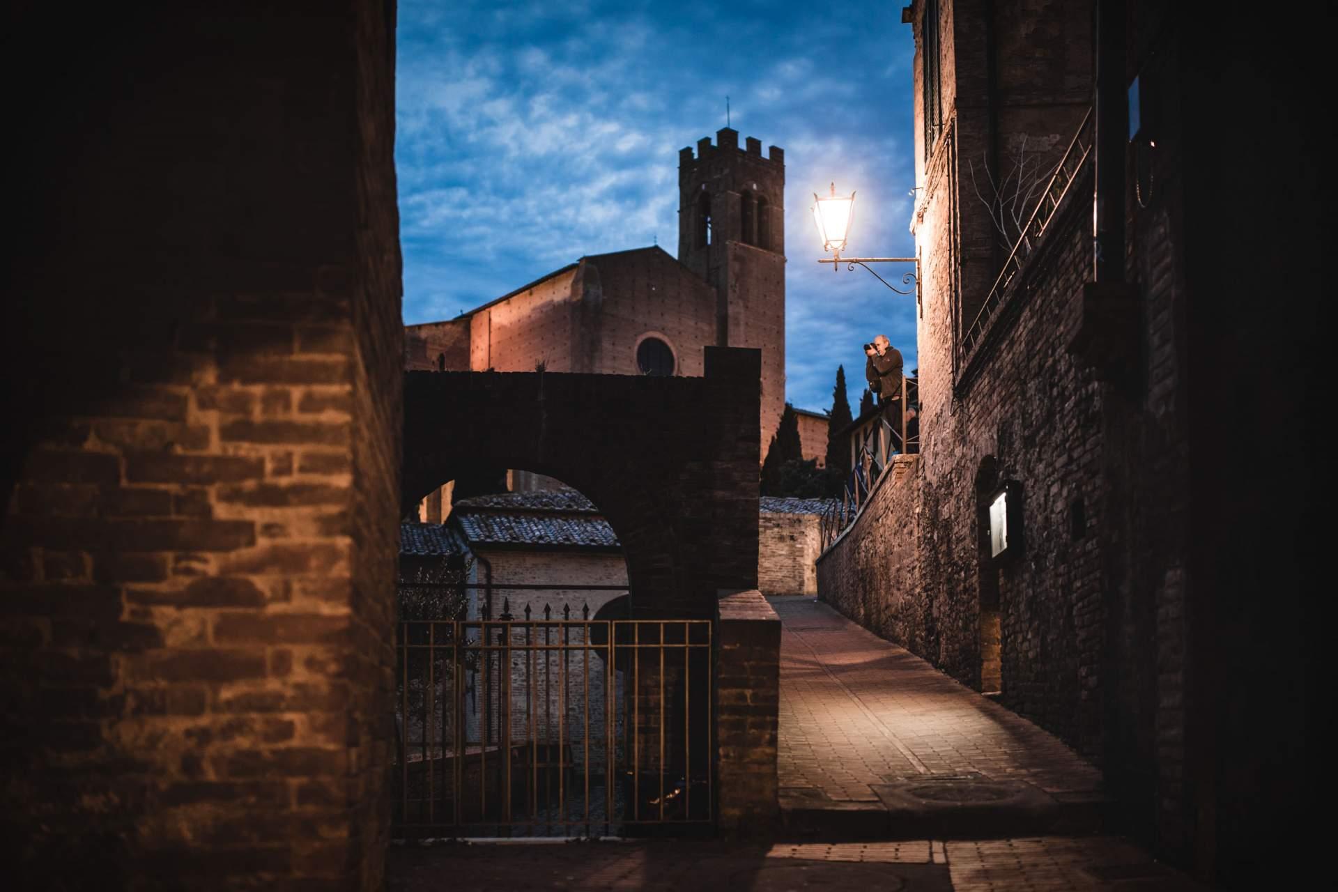 Siena in der Dämmerung