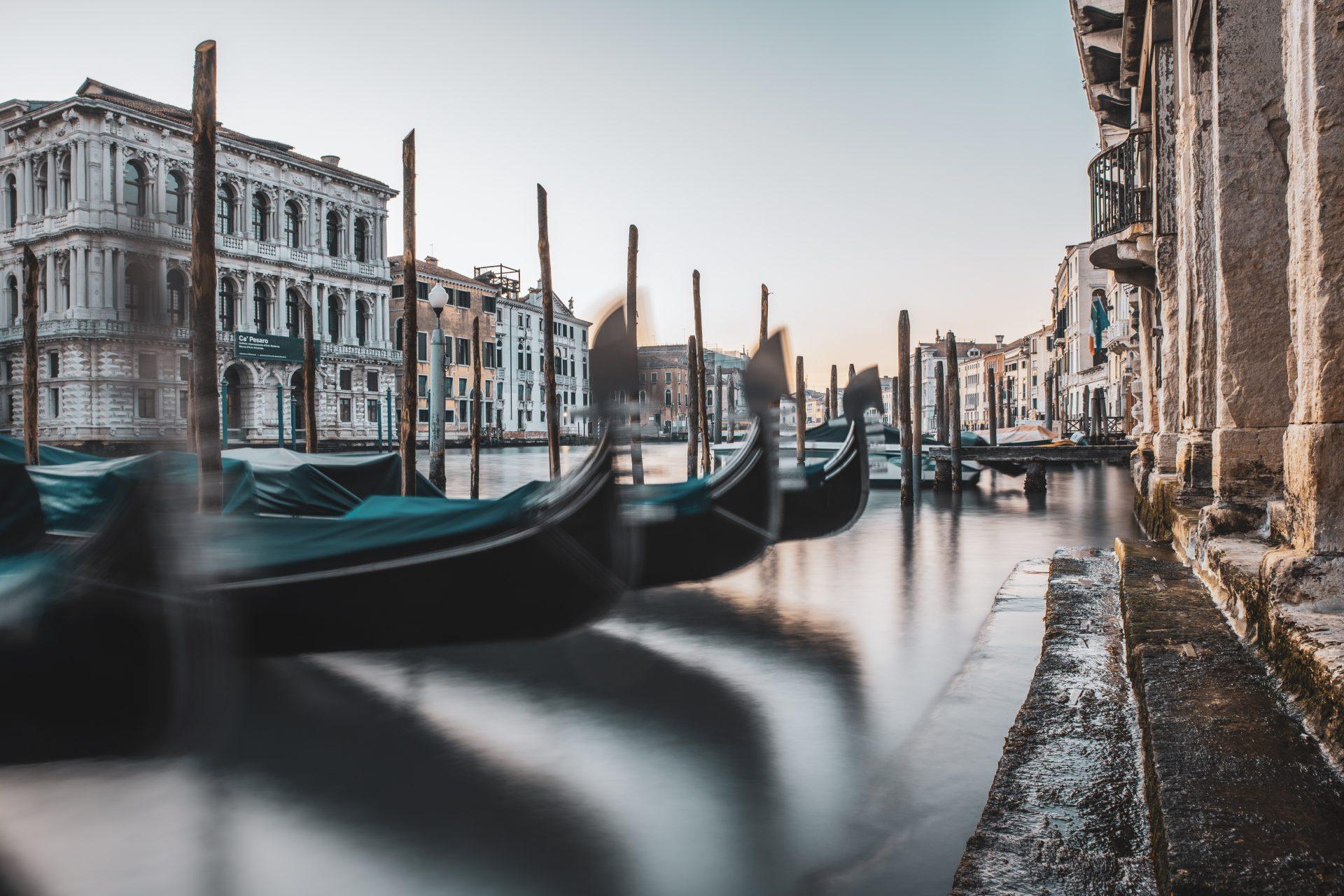 Blick über den Canal Grande in Venedig