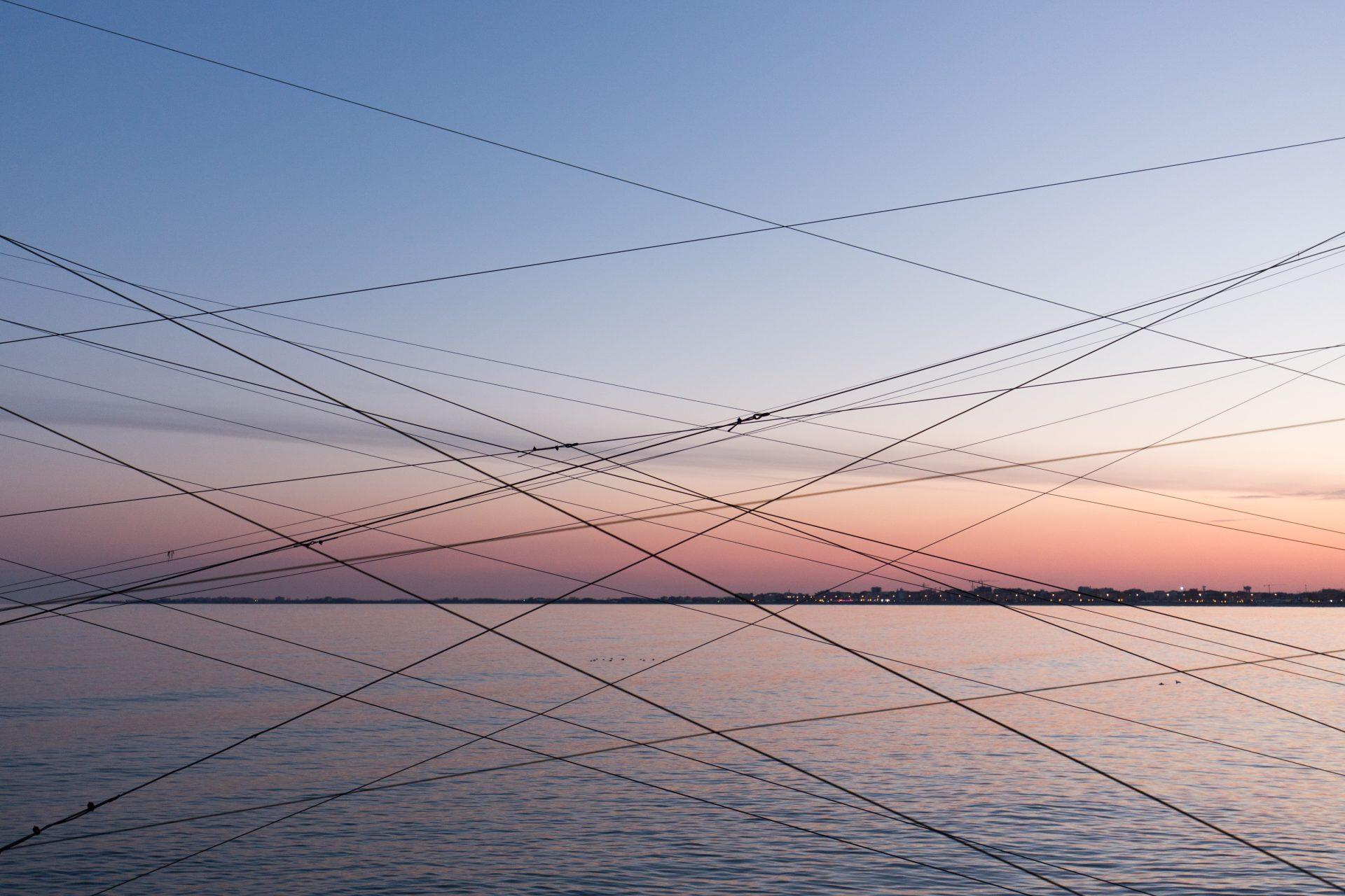 Fischerhütten bei Chioggia in der Lagune von Venedig